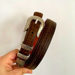 Lucchese Classics Burnished Smooth Tapered Belt
